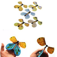 سحر الفراشة الإبداعية تحلق الفراشة التغيير بأيد فارغة الحرية فراشة السحر الدعائم الخدع السحرية CCA6800 500pcs