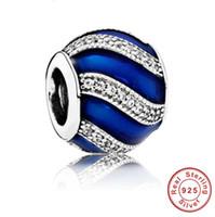 2017 echt heiß authentisch 925 sterling silber fit für pandora großhandel schmuck armband häufig verwendete wasserkräuselungen dekorative perlen
