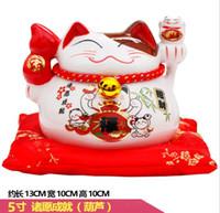 5 pouces chat argent tirelire tirage au sort chanceux cadeaux artisanat décoration décoration restaurant