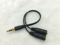 Toptan-3.5mm Erkek Bir Kadın Için Iki Ses Kablosu Kulaklık Dönüştürücü Ses Hattı Distribütörü Kulaklık Mikrofon 2 in 1 Kısa Kablo
