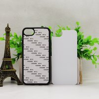 200 pcs En Gros 2D Sublimation Cas Pour iPhone 7 7plus DIY Style Dur PC Retour Couvre avec En Aluminium En Métal Blanc Insert