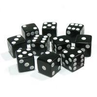Novo 10 pcs Multicolor Padrão Seis Faces Acrílico Gaming 6 Dices 16mm para Craps Club Party Jogando Jogo 3 Cor