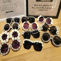 7 conception mode femmes lunettes de soleil rétro strass fleur avec perle plage fête lunettes de soleil costume costume fantaisie cadeau cadeau ZA3075