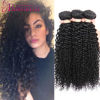 Brazilian Curly Human Hair Weaves 8- 28inch Brazilian Human H...