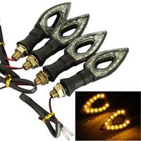 Encienda 4x universal de la bici LED ámbar intermitente de la señal Indicador de Luz