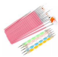 Heißer Verkauf 20 Stücke Nagel Ein Design Set Punktierung Malerei Zeichnung Polnischen Pinsel Stift Werkzeuge