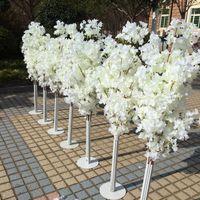 Три ветви для одного букета искусственного вишневого цветения цветок гирлянды для дома орнамент свадьба фона акры украшения