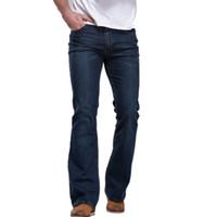 Atacado-MCCKLE Mens Jeans 2017 novos homens da moda jeans Denim calça Fit Denim flare pants patchwoek lavagem ocasional calças jeans roupas
