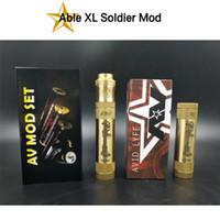 Avid Lyfe Able XL Soldat Mod AV Mechanische Mod Using18650 Batterie Gemacht Durch Messing Material Dhl-freies Verschiffen