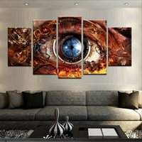 Wholesale Canvas print painting 5 Panel HD Printed oil paint...