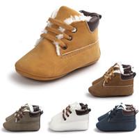 الدانتيل متابعة الطفل أول أحذية ووكر لينة الوليد فتاة الفتيان الرضع أحذية الشتاء الصوف اصطف طفل قبل الأحذية 17080902