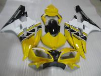 Stampo a iniezione 100% adatto per Yamaha YZF R6 2006 2007 Set di carenze bianche gialle YZFR6 06 07 OT20