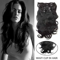 Wholesale 22 clip wavy human hair extensions buy cheap 22 clip body wave clip in hair7pcs 100g 14 26 thick full head wavy clip in human hair extensions 1 jet black remy clip in hair pmusecretfo Choice Image