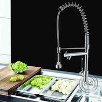 brand new pull out spray kitchen sink faucet brass body cera...