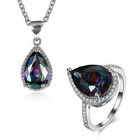 INANIS Fashion Jewelry Sets Rainbow Colorful Cubic Zirconia ...