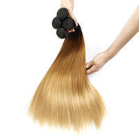 T4 30 27 Brown Blonde Brazilian Ombre Human Hair Weave Silky...