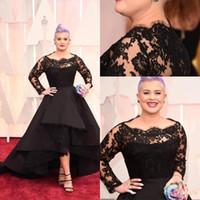 Kelly Osbourne 2019 87. Oscar Awards Roter Teppich Kleider Bateau A Line Lace Langarm Abendkleider High Low Prom Kleider Celebrity Dress