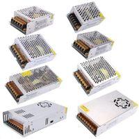 LED 스위칭 전원 공급 장치 변압기 금속 드라이버 12V 5A 60W 120W 180W 480W 입력 110V 220V 스트립 모듈 용 팬