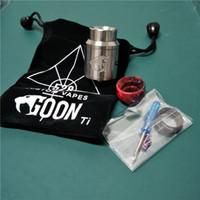 Titanium Goon V1.5 RDA 24mm E-Cigarros Vape E Cig Atomizers Mais Novo 510 Linha de Alta Qualidade Quente Ti Goon V1.5 para o Varejo