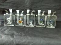 Accessoires pour bangs en verre de narguilé en boîte plate
