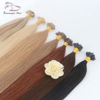 U Tip Hair Extension Human Hair Extensions Color #27 Light B...