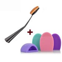 HaLu Ovale Maquillage Pinceau Et Brushegg Nettoyage Cosmétique Fond de Teint Poudre Brosses À Laver La Silice Cosmétique Propre Outils Set Hot