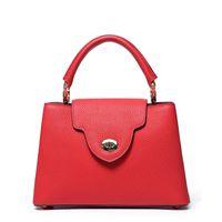 Frauen Handtaschen Top-Qualität Capucines MM BB echte Taurillon Leder Handtaschen große Tasche Handtasche Frauen BB Geldbörsen M48864 Kalbsleder Futter