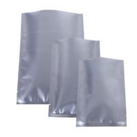 100 шт. Multi размеры пользовательские печати логотип мешок для хранения, разрывной серебристый серебряный милар алюминиевая фольга плоская открытая верхняя пакетная сумка