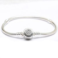 Drop Shipping real 925 silver Bracelets Snake Chain Fit Luxu...