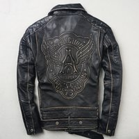 AFFLICTION Men' s motorcycle leather jacket AMERICAN Sof...