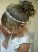 2016 Crystals Flower Girl Baby Hair Accessories Cheap Weddin...