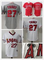 2017 Mike Trout 27 baseball Jerseys Los Angeles Angels of An...