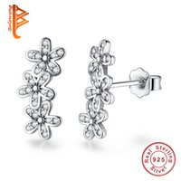 BELAWANG Wholesale 925 Sterling Silver Dazzling Daisies Flow...