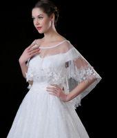 Frete Grátis 2017 Mais Novo Estilo Bride Shawl Lace Diamond Cloak Envoltórios Casacos Casamento Vestido Acessórios Shuoshuo6588