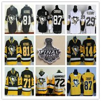 Pittsburgh Penguins 2017 Stanley Cup Champions Finals Hockey 87 Sidney Crosby 81 Phil Kessel 71 Evgeni Malkin 30 Matt Murray Fleury Jerseys