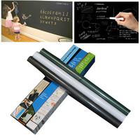 Kara Tahta Duvar Çıkartmaları Blackboard Sticker Çıkarılabilir Vinil PVC Çocuk çizim Kara Tahta Dekor Duvar Çıkartmaları Sanat Kara Tahta 45 * 200 cm