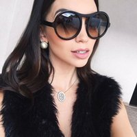 High Quality Women Oversized Round Sunglasses New Lady Summe...