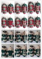 2017 Minnesota Hoodies Selvagens Jerseys Camisolas de Hóquei 40 DUBNYK 20 SUTER 11 PARISE 22 NIEDERREITER 64 GRANDUNDO Verde Vermelho Velho Uniformes de Tempo