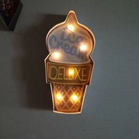 Ice Cream Vintage Neon Sign Decorative painting LED metal si...