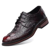 British Style Hommes Véritable Crocodile En Cuir Chaussures Classique Affaires Occasionnels Chaussures Mode À La Main Robe Appartements Flats Chaussures Oxfords 8