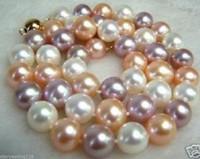 """ENVÍO GRATIS nueva joya noble noble joya + 8 MM Multicolor collar de perlas de concha del Mar del Sur 18 """""""