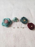 Camellia flower brooches pins floral brooch pin handmake cloth art accessories wedding party birthay gifts real pictures