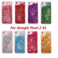 Quicksand Rhinestone Vaka ZTE Blade A520 Için Google Piksel 2 XL Piksel XL 2 Glitter Şeffaf Sıvı TPU Kapak opp çanta C