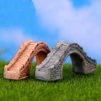 Mini Taş Köprü Figürleri Reçine El Sanatları Peri Bahçe Minyatürleri DIY Teraryum Succulents Mikro Peyzaj Dekorasyon DHL Ücretsiz Kargo