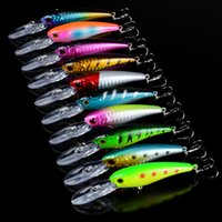 10- color 9cm 7. 5g Hard plastic lures fishing hooks 3D Minnow...