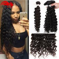 Бразильские волосы девственницы глубокая вьющаяся волна человеческих волос Remy Weave 3шт