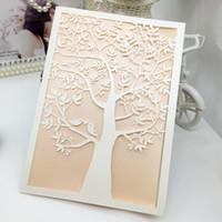 Wedding Invitations Laser Cut Wedding Invitations Love Tree Wedding Party  Invitations Sets Blank Inside Page With White Envelope, Sticker