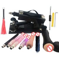 Pistola automatica della macchina del sesso con molti accessori di Dildo Accessori sessuali Robot Robot Love Machine 6cm Maschio / Femmina Masturbator Sex Toys