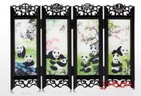 Commercio all'ingrosso a buon mercato 4 stile tradizionale cinese artigianato cinese antico piccolo schermo Decorazione