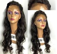 8A Tutkalsız Dantel Ön İnsan Saç Peruk Siyah Kadınlar Için Islak Ve Dalgalı Brezilyalı Tam Dantel Peruk Ile Bebek Saç Dalgalı Dantel Ön Peruk
